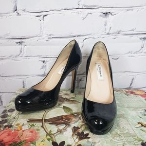 L.K. Bennett Black Patent Leather Pumps